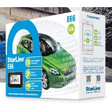 Автосигнализация без автозапуска StarLine E66 BT 2CAN+2LIN Mini | ugona-net.com.ua